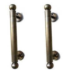 """2 DOOR handle pull solid brass Hollow old vintage aged brass retro style 10"""" B"""