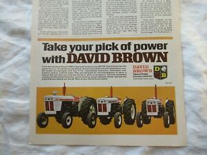 David Brown 1200 770 tractor magazine print ad