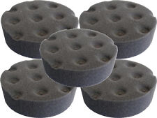 5 PACK Lake Country CCS Black Foam Polishing Pad - 3 inch 7872300-5