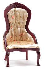 Dollhouse Miniatures 1:12 Scale  00004000 Victorian Lady's Chair, Mahogany #Cla10966