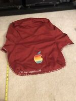 Vintage Apple Computer Cloth Cover Customized Punxsutawney PA IIe Plus others