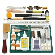 Leather Craft Tools Kit Set Stitching Punch Carving Hand Sewing Saddle Groover