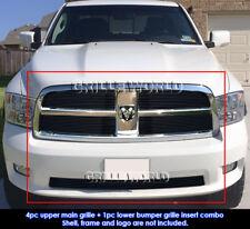 For 2009-2012 Dodge Ram 1500 Sport/Express Model Black Billet Grill Combo