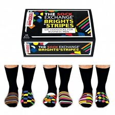 6 Verrückte Socken 15 Kombinationen Oddsocks Brights Stripes bunt Strümpfe Box