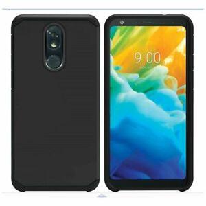 Wholesale Lot Bulk Dual Layer Sleek Hybrid Cases for Various Phones - Black
