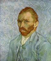 Oil painting Vincent Van Gogh - artist Self Portrait impressionism Middle-aged
