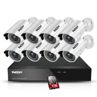 8CH 1080P 2MP Home Outdoor CCTV Camera HDMI DVR Security System 1TB HDD