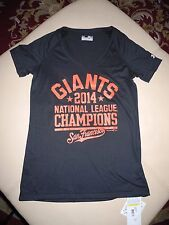 NW GIANTS NATIONAL LEAGUE CHAMPIONS SAN FRANCISCO BLACK T SHIRT SM SMALL MEDIUM
