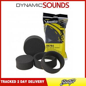 """Stinger Roadkill Fast Rings 5"""" / 5.25"""" Speaker Foam Pad Ring Baffle Kit"""