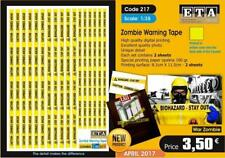 Zombie Warning Tape- 1/35 scale