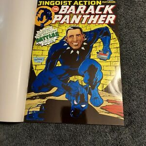 Barack Panther # 1 Foil Cover 09/19/2018  (Up against the Trump Wall)