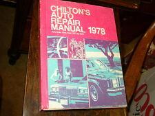Chilton's Auto Repair Manual 1978 1971-78 American Cars  4N3
