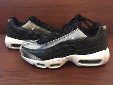 New Nike Women's Air Max 95 SE Black Brushed Metal 918413 001 sz 7 Rare Sample