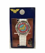 Women's DC Comics Wonder Woman Watch With White Wristband