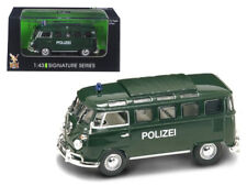 1962 Microbus Police Green 1/43 Diecast Car Model by Road Signature