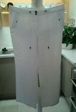 George Linen High Rise Plus Size Trousers for Women