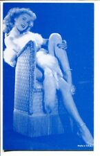Pin-up Girl-Arcade/Exhibit Card-Fur Coat Sitting-1960's-VF/NM
