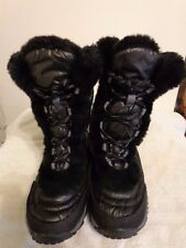 THE NORTH FACE NUPSE SNOW BOOTS YOUTH GIRL 3.0 BLACK