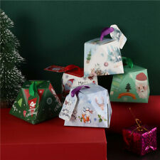 40pcs Christmas Candy Gift Boxes Cookie Dessert Packaging Bag Xmas Party Favors