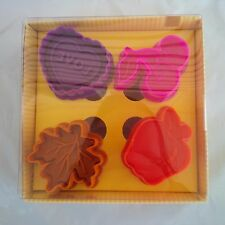 Mrs. Anderson's Baking Pie Crust Cutters, Set of 4 HEART LEAF CHERRY APPLE