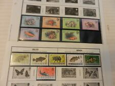 Lot of 13 1983-84 Belize Stamps, Fish, Animals, Crabs, MNH