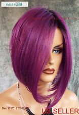 ANGLED BOB  WIG HEAT SAFE ROOTED MIDNIGHT BERRY  DARLING SEXY HOT US SELLER 2030
