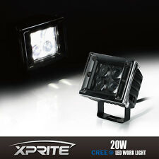 3 Inch 20W Square Spot 4D 5W CREE Fish Eye Optical LED Work Off Road Light