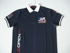 POLO RALPH LAUREN Men's Navy Custom Fit USA Offshore Sailing Team Pique Polo L