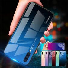 Funda híbrida para Samsung Galaxy A50 A40 A30 A70 Vidrio templado rígido carcasa