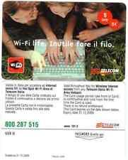 SCHEDA TELECOM NUOVA WIFI LIFE BASE TIRATURA 2000 SCADENZA 30 12 2009