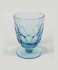 """Fostoria Glass Co • Mesa • Blue • 4 1/4"""" Ftd 9oz Tumbler -1969-New Condition!"""