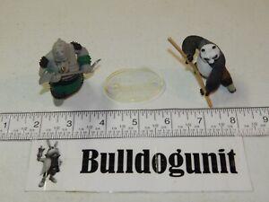 Kung Fu Panda Po & Rhino Commander Playset Figure 2008 Mattel Dreamworks