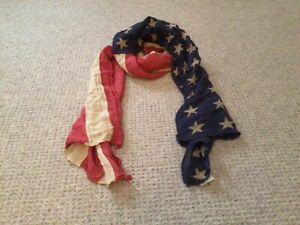 Ralph Lauren American Flag Scarf, Denim & Supply, Linen Blend