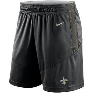 Brand New 2021 NFL New Orleans Saints Nike Sideline Performance Knit Shorts NWT