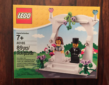 Lego Wedding Bride & Groom 89 pcs. Cake Topper set # 40165 NEW in Box