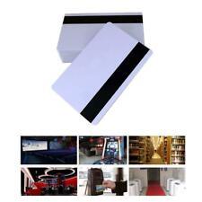 10pcs PVC PLASTIC BLANK WHITE CREDIT CARD 30 MIL With Loco Stripe Magnetic E3Q1