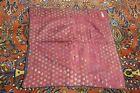 "Antique Persian Or Uzbek Islamic Brocade Textile 28"" x 28"" Tablecloth Boche"