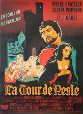 """""""LA TOUR DE NESLE"""" Affiche originale entoilée (Abel GANCE / Pierre BRASSEUR)"""