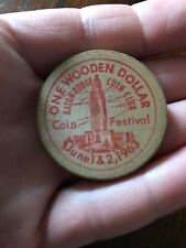 Baton Rouge Coin Club 2nd annual coin festival 1963 wooden dollar(wooden nickel)