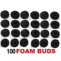 100pcs Soft Foam Sponge Earphone Headphone Earbud Ear Pads Covers Replacement