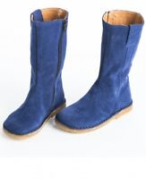 New girls PePe Cobalt blue Suede Boots shoes euro 24 us 8 leather made in Italy