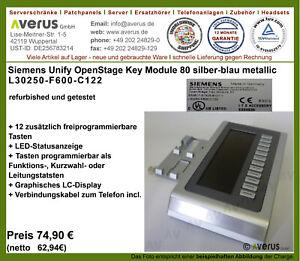 Siemens OpenStage Key Module 80 silber-blau metallic  /  Rg. inkl. MwSt.