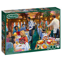 NEW! Falcon de luxe The Dining Carriage by Jim Mitchell 500 piece jigsaw puzzle