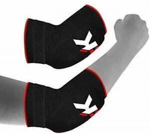 KIKFIT Elbow Support Pads Compression Brace Tennis Gym Bandage Strap Injury Pain