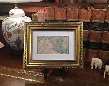 Framed Original 1889 Antique Map MARYLAND Annapolis Frederick Rockville Bowie