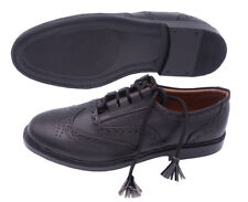 Ghillie Brogues Scottish Kilt Shoes/ Black Ghillie Shoes  size 7-12 & free Socks
