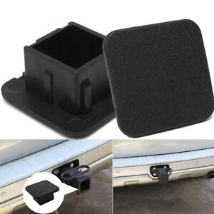 """1X Rubber Car Kittings 1-1/4"""" Black Trailer Hitch Receiver Cover Cap Accessory"""