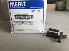"Merit Cartridge Roll 3/16"" x 1"" 08834180026 120ARB box of 100"