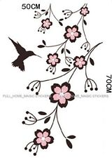 Blossom Flower Vines & Humming Bird Wall Stickers Removable Vinyl Art Decals