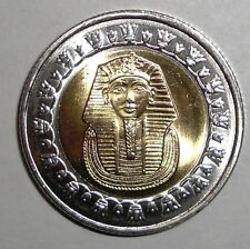 2010 Egypt 1 pound, King Tut death mask, bi-metallic coin